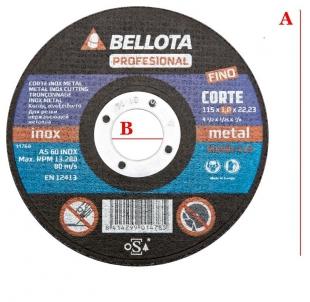 Диск  за метал Bellota 50300-115
